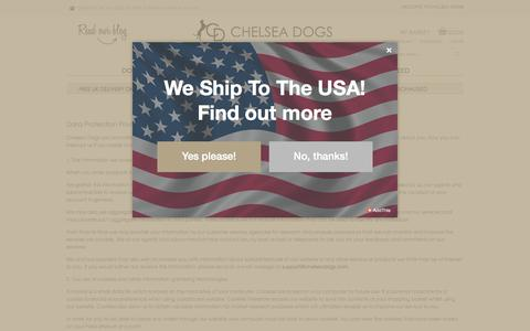 Screenshot of Privacy Page chelseadogs.com - Privacy Policy - captured July 10, 2017