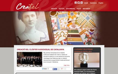 Screenshot of Home Page createl.tv - Createl - captured Sept. 30, 2014