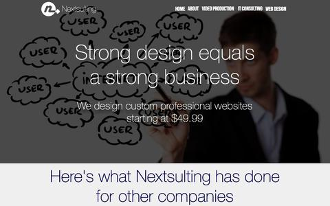 Screenshot of Landing Page nextsulting.com - Web Design from Nextsulting - captured Oct. 27, 2014