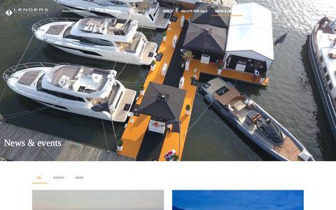 Screenshot of Press Page lengersyachts.com - News & events - Lengers Yachts: Luxury Yacht dealer Europe - captured Nov. 4, 2018