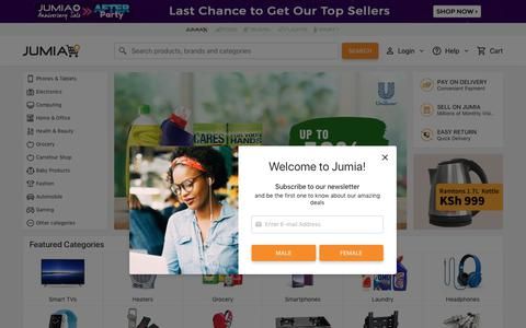 Screenshot of Home Page jumia.co.ke - Jumia Kenya - Online Shopping for TVs, Electronics, Phones, Fashion & more - captured July 17, 2019