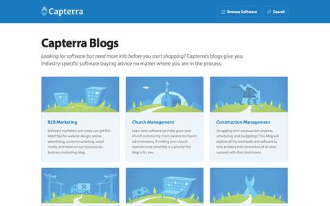 Screenshot of Blog capterra.com - Software Buying Tips and Advice for Businesses: Capterra Blog - captured Sept. 18, 2014