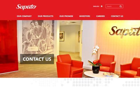 Screenshot of Contact Page saputo.com - Contact Saputo | Saputo - captured Sept. 6, 2018