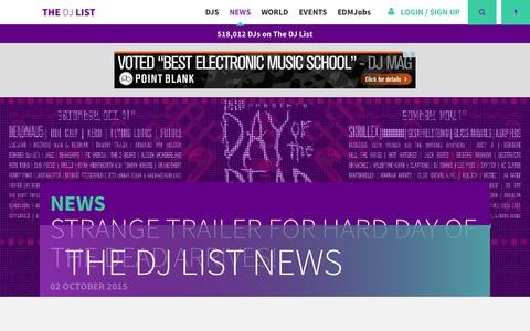 Screenshot of Press Page thedjlist.com - News | The DJ List - captured Oct. 1, 2015