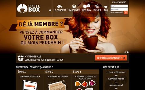 Screenshot of Home Page coffee-box.fr - Coffee Box - captured Sept. 24, 2014