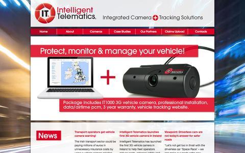 Screenshot of Home Page intelligent-telematics.ie - Intelligent Telematics - captured Oct. 4, 2014