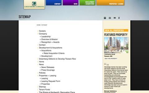 Screenshot of Site Map Page ggcommercial.com - Sitemap | Greenberg Gibbons - captured Sept. 21, 2017