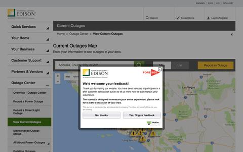 View Current Outages | Outage Center | Home - SCE