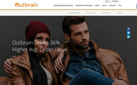 Screenshot of Case Studies Page outbrain.com - Reiss's Case Study: Increase High Order Value | Outbrain.com - captured April 19, 2018