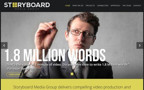 Screenshot of Home Page storyboardgroup.com - Storyboard Media Group- NJ and NYC Video Production Company | Best Video Production in New Jersey, New York City, Connecticut, Pennsylvania: Corporate Videos, Marketing Videos, Event Videos, Editing Services, Videography - captured Oct. 7, 2014