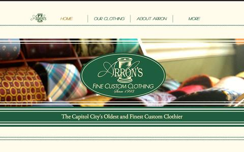Screenshot of Home Page yourpersonaltailor.com - arrons-custom-cloth - captured Feb. 23, 2016