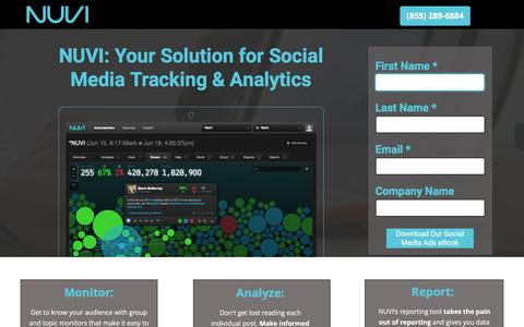 Screenshot of Landing Page nuvi.com - Social Media Intelligence - Nuvi - captured Jan. 13, 2017
