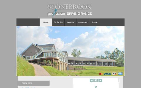Screenshot of Home Page stonebrookdrivingrange.com - Stonebrook Golf Academy & Driving Range - captured Sept. 30, 2014
