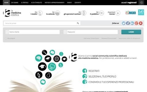 Screenshot of Login Page lamedicinaestetica.it - Benvenuto su lamedicinaestetica.it - captured Oct. 28, 2014