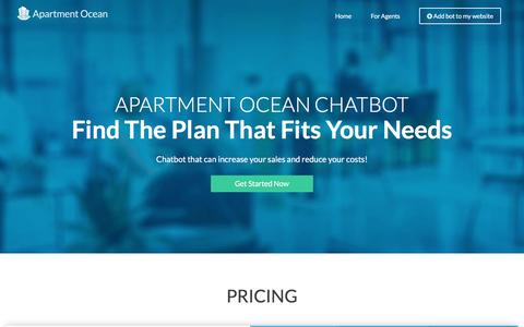 Screenshot of Pricing Page apartmentocean.com - Pricing | Apartment Ocean - captured May 4, 2017