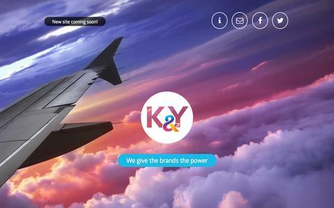 Screenshot of Home Page kybrands.com - K&Y Brands - captured Jan. 23, 2015