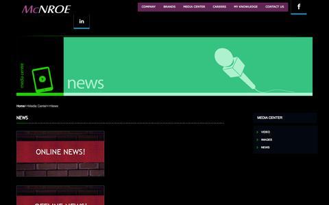 Screenshot of Press Page mcnroe.com - :: McNROE :: - captured Oct. 27, 2014