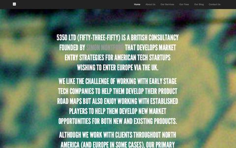 Screenshot of Home Page 5350.co.uk - 5350 Ltd - captured Oct. 7, 2014