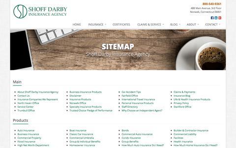 Screenshot of Site Map Page shoffdarby.com - Insurance Website Sitemap | Shoff Darby Insurance Agency - captured Dec. 11, 2016