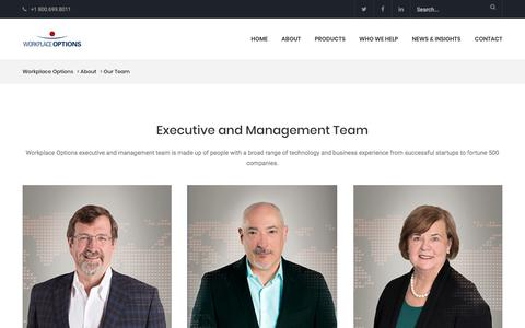Screenshot of Team Page workplaceoptions.com - Our Team - Workplace Options - captured July 9, 2018