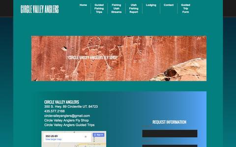 Screenshot of Contact Page circlevalleyanglers.com - Circle Valley Anglers : Contact - captured Dec. 9, 2015