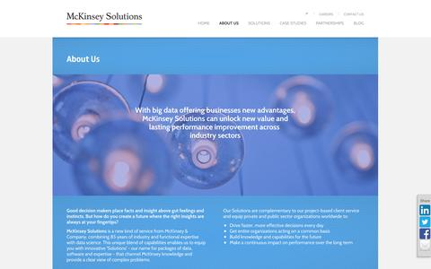 Screenshot of About Page mckinsey.com - About Us   McKinsey Solutions - captured Sept. 18, 2014