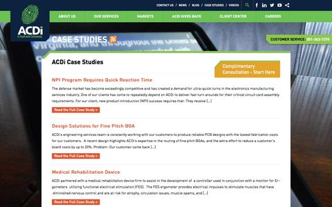 Screenshot of Case Studies Page acdi.com - Case Studies Archive - ACDI - captured Oct. 6, 2017