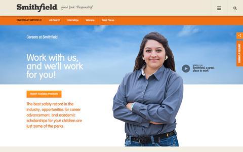 Careers at Smithfield Foods | Smithfield Foods