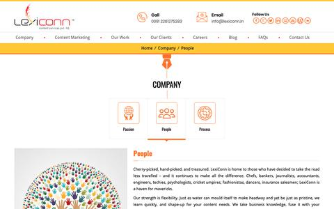 Screenshot of Team Page lexiconn.in - Team LexiConn | Content Start-up | Content Agency Mumbai, Kolkata, India - captured Sept. 28, 2018