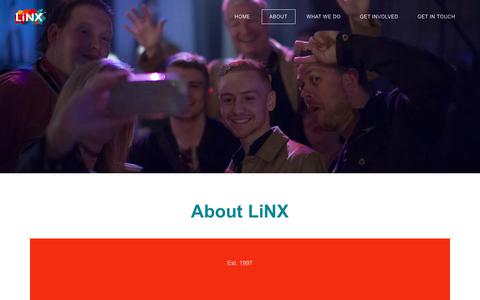 Screenshot of About Page linxyouth.net - About - Youth & Schools Work Charity | LiNX Christian Youth Trust | Torbay - Torquay, Paignton, Brixham - captured July 5, 2018