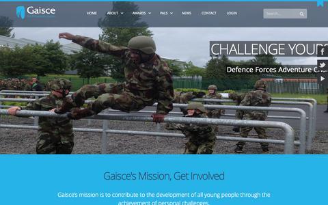 Screenshot of Home Page gaisce.org - Gaisce, The President's Award, Ireland - captured Jan. 23, 2015