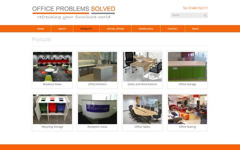Screenshot of Products Page officeproblemssolved.com - Office Problems Solved » Products:  Office Problems Solved - captured Jan. 11, 2016