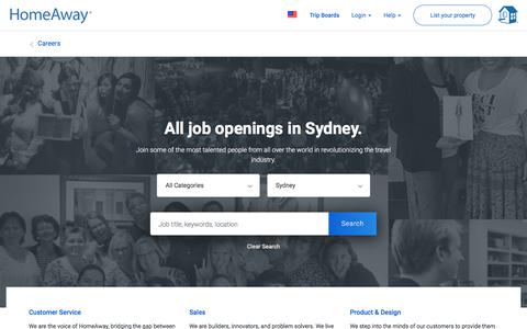 Screenshot of Jobs Page homeaway.com - Jobs at HomeAway - captured May 31, 2018