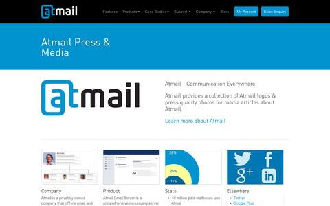 Screenshot of Press Page atmail.com - Atmail - Press Resources & Media Kit - captured July 20, 2014