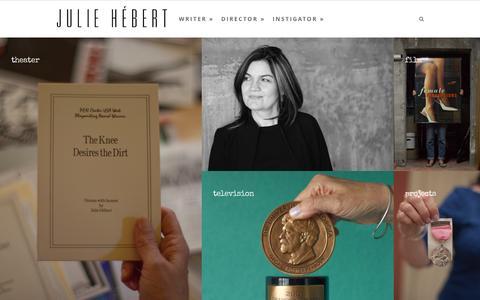 Screenshot of Home Page juliehebert.com - Julie Hébert | Los Angeles Writer/Director Welcome - Julie Hébert - captured Oct. 9, 2015