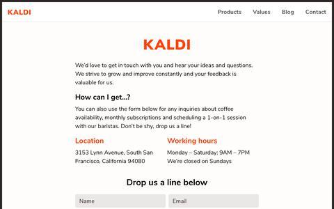 Screenshot of Contact Page infotrust.kz - Contact | Kaldi - captured Oct. 11, 2018