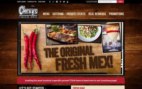 Screenshot of Menu Page chevys.com - Chevys Menu - captured Nov. 4, 2014