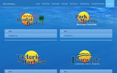 Screenshot of Contact Page bestinboating.com - Contact Us | Best In Boating Official Website - captured July 14, 2017