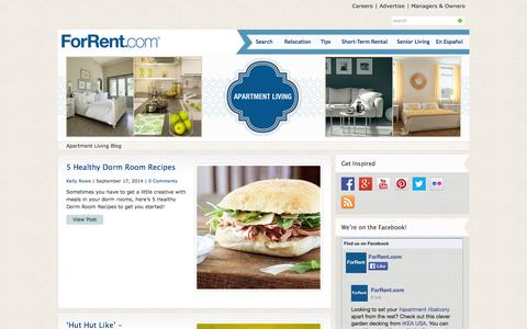 Screenshot of Blog forrent.com - ForRent.com Blog for Apartments  : Apartment Living Blog - captured Sept. 18, 2014