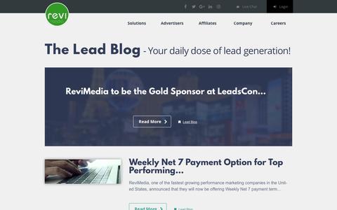 Screenshot of Blog revimedia.com - ReviMedia  Lead Blog - captured April 5, 2017