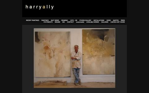 Screenshot of Home Page harryally.com - Harry Ally - captured Oct. 2, 2014