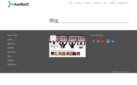Screenshot of Blog aorborc.com - Blog | A or B or C - captured Feb. 1, 2016