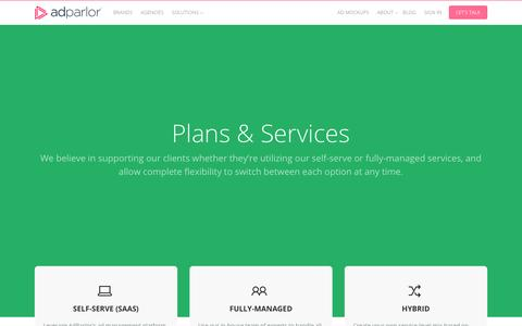 Screenshot of Services Page adparlor.com - Services Archive | AdParlor - captured May 21, 2017
