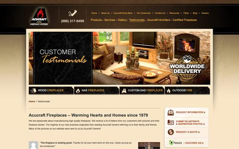 Screenshot of Testimonials Page acucraft.com - Acucraft Reviews   Testimonials by Real Customers - captured Oct. 3, 2018