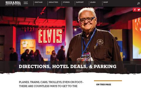 Screenshot of Maps & Directions Page rockhall.com - Directions, Hotel Deals, & Parking | Rock & Roll Hall of Fame - captured Sept. 3, 2016