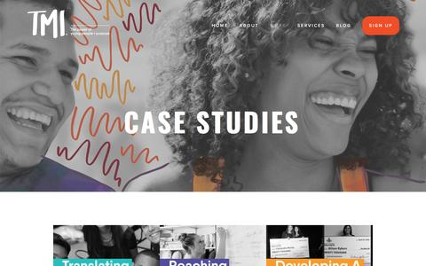 Screenshot of Case Studies Page tmistrategy.org - Case Studies —  TMI Strategy - captured May 3, 2017