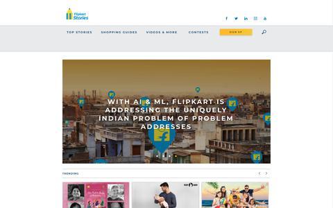 Screenshot of Press Page flipkart.com - Flipkart Stories - Looking for a Flipkart story? Read latest news updates - captured April 29, 2018