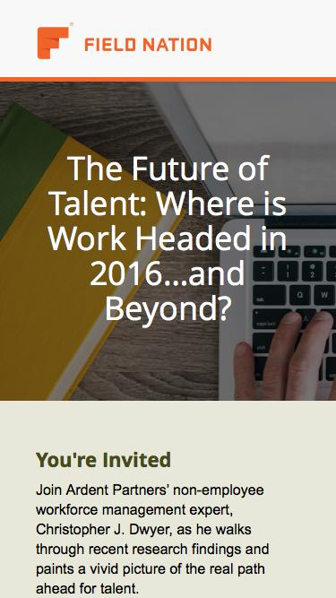 The Future of Talent: Where is Work Headed in 2016…and Beyond?