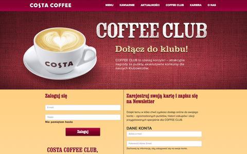 Screenshot of FAQ Page costacoffee.pl - COSTA COFFEE | Kawiarnia z serca Londynu - captured Oct. 7, 2016