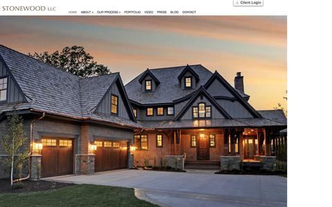 Screenshot of Home Page stonewood.com - Minneapolis / St. Paul Custom Home Builder | Stonewood, LLCStonewood – Minneapolis Custom Home Builder | Minneapolis / St. Paul Custom Home Builder - captured March 5, 2016